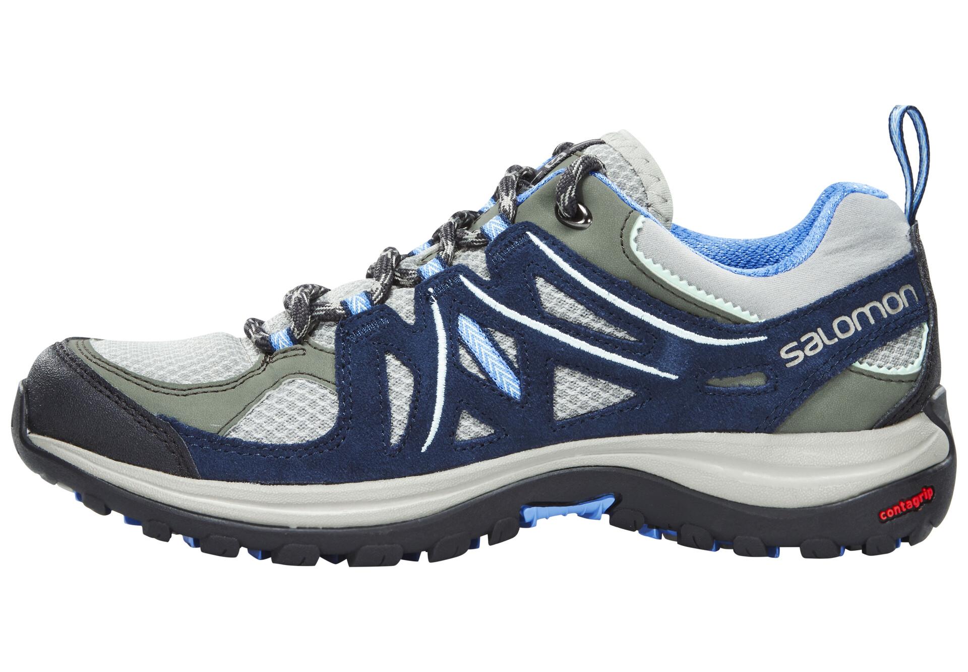 Salomon Ellipse 2 Aero Chaussures de randonnée Femme, titaniumdeep bluepetunia blue